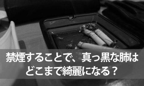 禁煙することで、真っ黒な肺はどこまで綺麗になる?