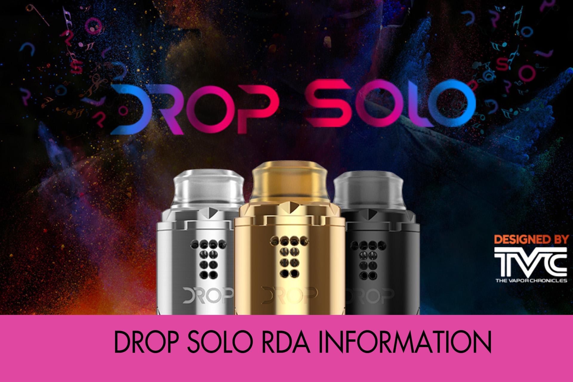Digiflavor Drop Solo RDAメーカー情報まとめ
