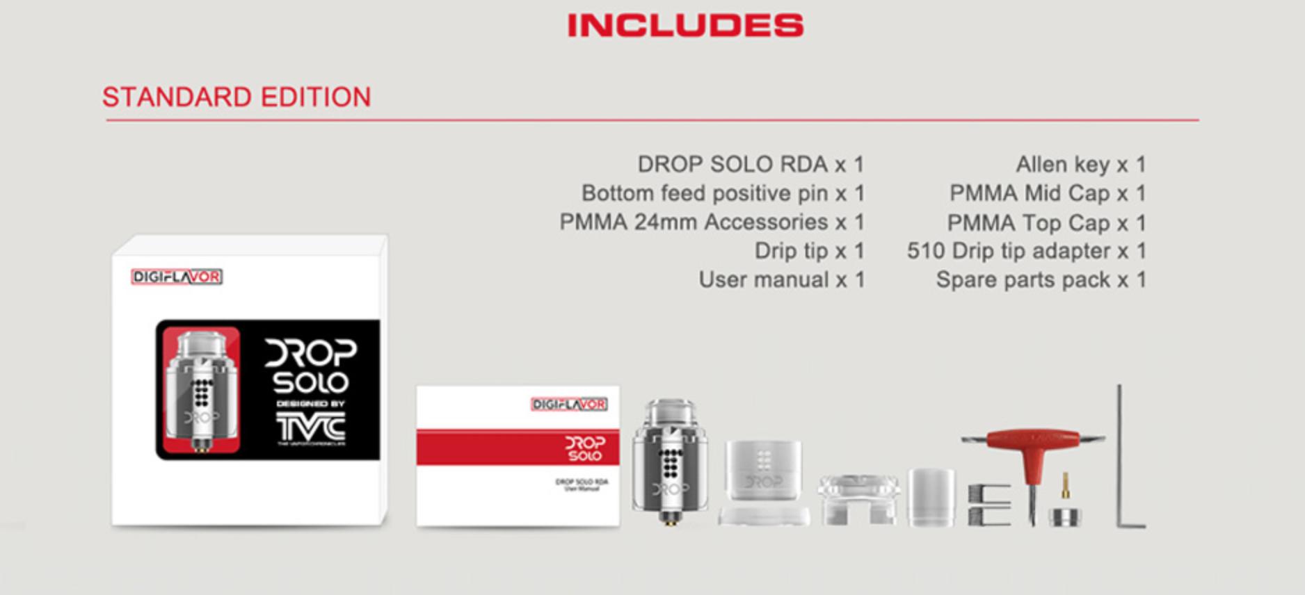 Digiflavor Drop Solo RDA同梱品