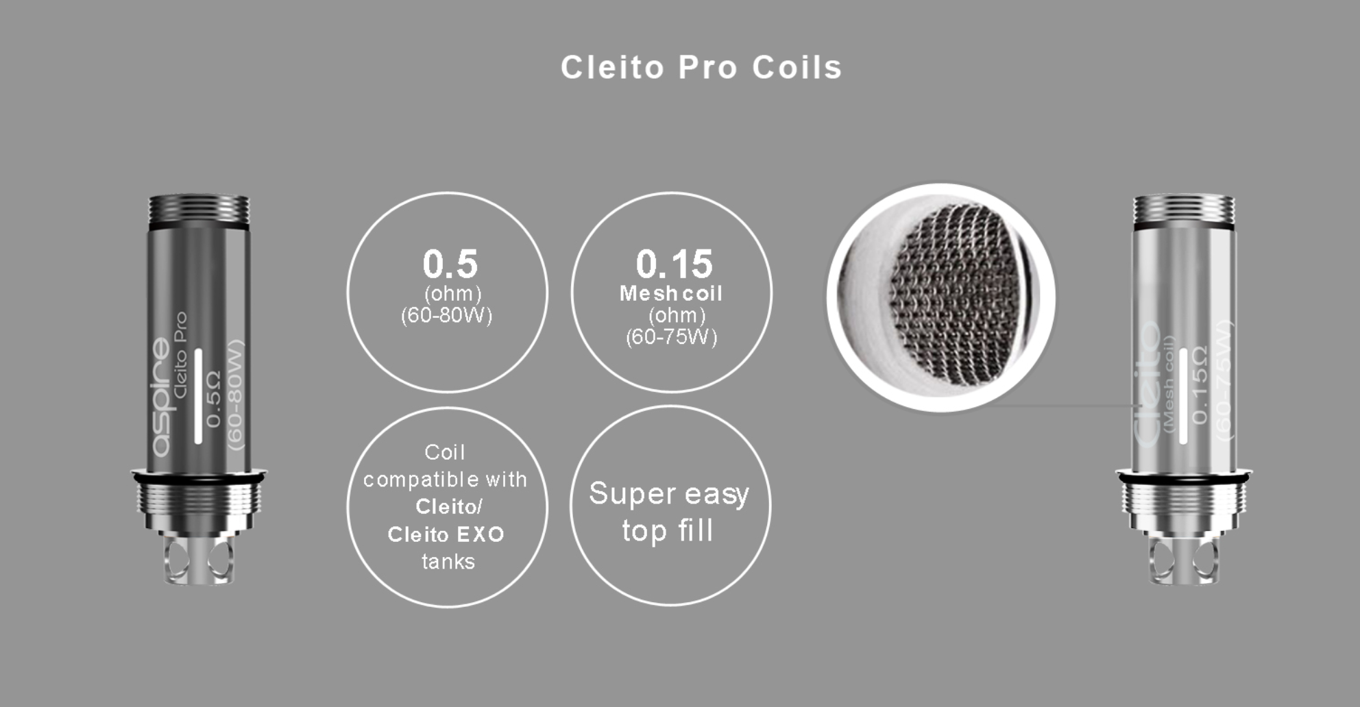 Cleito Pro tankコイル